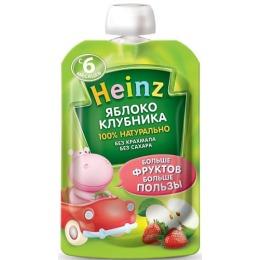 """Heinz пюре """"Яблоко, клубника"""" с 6 месяцев, 100 г"""