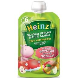 """Heinz пюре """"Яблоко, персик, манго, банан"""" с 6 месяцев, 100 г"""