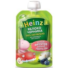 """Heinz пюре """"Яблоко, черника"""" с 5 месяцев, 100 г"""
