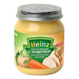 """Heinz пюре """"Рагу из овощей с индеечкой"""" с 8 месяцев, 120 г"""