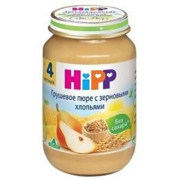 """Hipp пюре """"Грушевое с зерновыми хлопьями"""" с 4 месяцев, 190 г"""