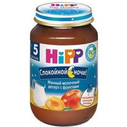"""Hipp каша """"Манная с фруктами"""" с 5 месяцев, 190 г"""