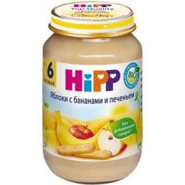 """Hipp каша """"Яблоки, бананы и печенье"""" с 6 месяцев, 190 г"""