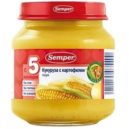 "Semper пюре ""Кукуруза с картофелем"", 125 г"