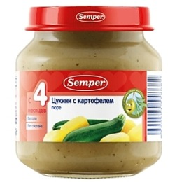 "Semper пюре ""Цуккини с картофелем"", 125 г"