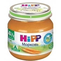 """Hipp пюре """"Морковь"""" с 4.5 месяцев, 80 г"""