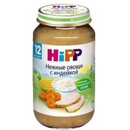 """Hipp пюре """"Нежные овощи с индейкой"""" с 12 месяцев, 220 г"""