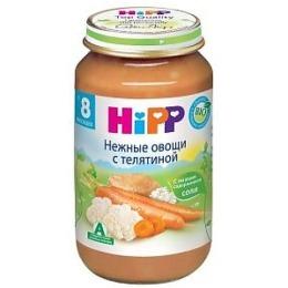 """Hipp пюре """"Нежные овощи с телятиной"""" с 8 месяцев, 220 г"""