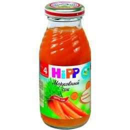 "Hipp сок ""Морковный"" с 4 месяцев, 200 мл"