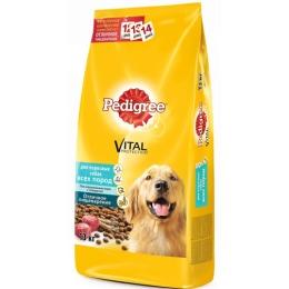 Pedigree корм сухой, для взрослых собак крупных пород, с говядиной, 13 кг