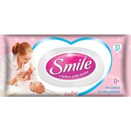Smile влажная салфетка с пластиковым клапаном, 72 шт