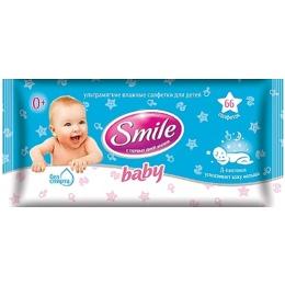 Smile влажные салфетки с Д-пантенолом, с первых лет жизни, 66 шт