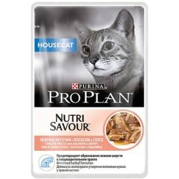 """Pro Plan корм """"Housecat"""" для кошек, лосось, в соусе, 85 г"""