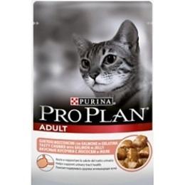 Pro Plan корм для кошек, лосось, в желе, 85 г