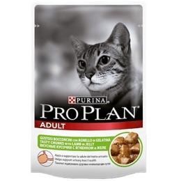 Pro Plan корм для кошек, ягненок, в желе, 85 г