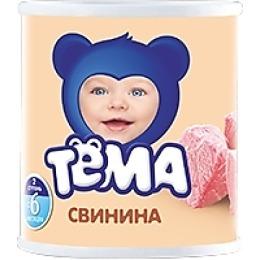 """Тема пюре """"Свинина"""" с 6 месяцев, 100 г"""