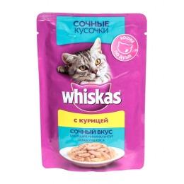 Whiskas сочные кусочки для кошек, курица, 85 г