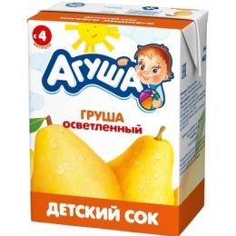 """Агуша сок """"Груша"""" осветленный, 200 мл"""