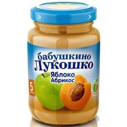 """Бабушкино Лукошко пюре """"Яблоко и абрикос"""" с 5 месяцев, 200 г"""