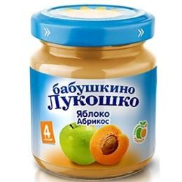 """Бабушкино Лукошко пюре """"Яблоко и абрикос"""" с 4 месяцев, 100 г"""