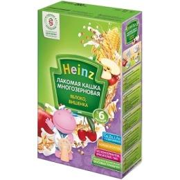 """Heinz кашка лакомая """"Многозерновая. Яблоко, вишенка"""" с 5 месяцев, 200 г"""