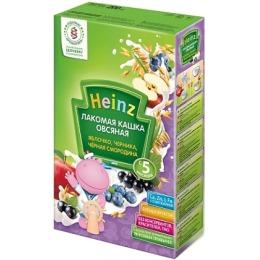 """Heinz кашка лакомая """"Овсяная. Яблоко, черника, чёрная смородина"""" с 5 месяцев, 200 г"""