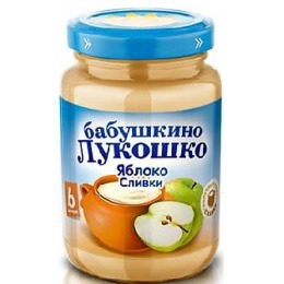 "Бабушкино Лукошко пюре ""Яблоко, сливки, сахар. Неженка"", 200 г"