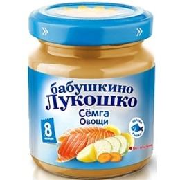 "Бабушкино Лукошко рагу ""Семга с овощами"" с 8 месяцев, 100 г"