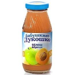 """Бабушкино Лукошко сок """"Яблочно-абрикосовый"""" с мякотью, без сахара, с 5 месяцев, 200 мл"""