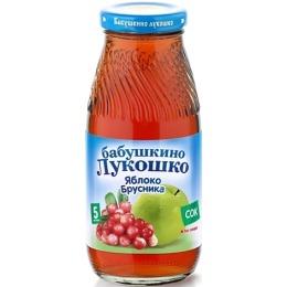 """Бабушкино Лукошко сок """"Яблочно-брусничный"""" осветленный, без сахара, с 5 месяцев, 200 мл"""