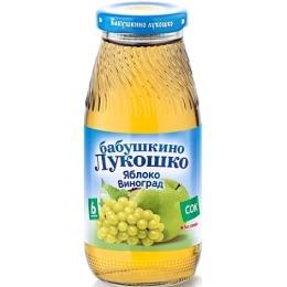 """Бабушкино Лукошко сок """"Яблочно-виноградный"""" осветленный без сахара, с 6 месяцев, 200 г"""