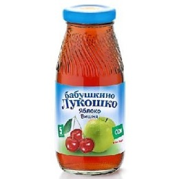 """Бабушкино Лукошко сок """"Яблочно-вишневый"""" осветленный без сахара, с 6 месяцев, 200 г"""