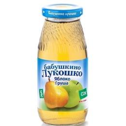 """Бабушкино Лукошко сок """"Яблочно-грушевый"""" осветленный без сахара, с 5 месяцев 200 г"""