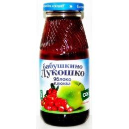 """Бабушкино Лукошко сок """"Яблочно-клюквенный"""" осветленный, без сахара, 200 мл"""