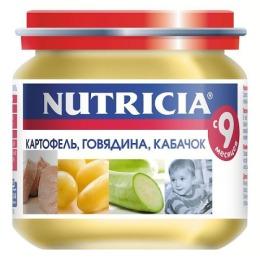 """Nutricia пюре """"Картофель, говядина, кабачок"""", 125 г"""