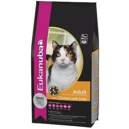 """Eukanuba корм """"Cat"""" для взрослых кошек, курица и ливер, 2 кг"""