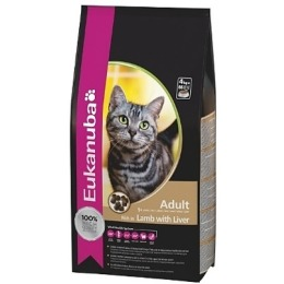 """Eukanuba корм """"Cat"""" для взрослых кошек, ягненок и ливер, 2 кг"""