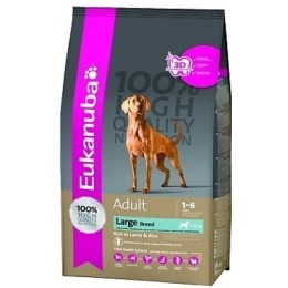 """Eukanuba корм """"Dog"""" для взрослых собак крупных пород, ягненок, 12 кг"""