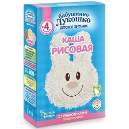 """Бабушкино Лукошко каша """"Рисовая"""" с пребиотиками, с 4 месяцев, 200 г"""