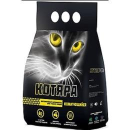 Котяра наполнитель для кошачьих туалетов, бентонитовый, комкующийся, 5 кг
