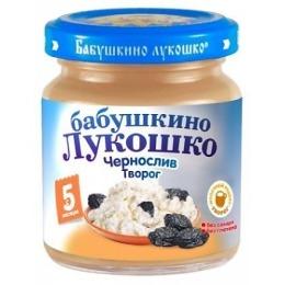 "Бабушкино Лукошко пюре ""Чернослив с творогом"" с 6 месяцев, 100 г"