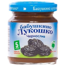 "Бабушкино Лукошко пюре ""Чернослив"" с 5 месяцев, 100 г"