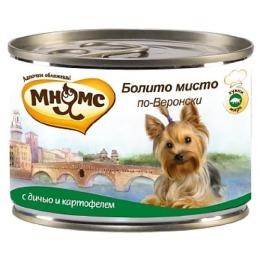 """Мнямс консервы """"Болито мисто по-веронски"""" для собак, дичь с картофелем, 200 г"""