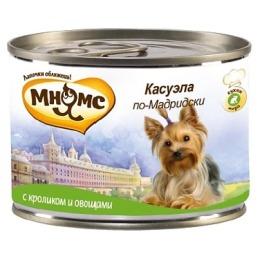 """Мнямс консервы """"Касуэла по-мадридски"""" для собак, кролик с овощами, 200 г"""