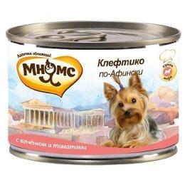"""Мнямс консервы """"Клефтико по-афински"""" для собак, ягненок с томатами, 200 г"""