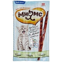 Мнямс лакомые палочки для котят, с индейкой, 3 г, 3 шт