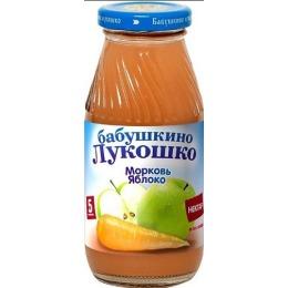 """Бабушкино Лукошко нектар """"Яблоко, морковь"""" с 5 месяцев, 200 мл"""