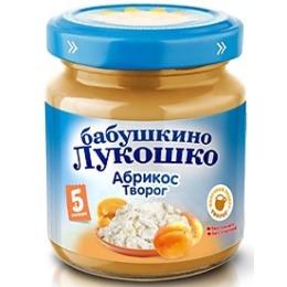 """Бабушкино Лукошко пюре """"Абрикос с творогом"""" с 5 месяцев, 100 г"""