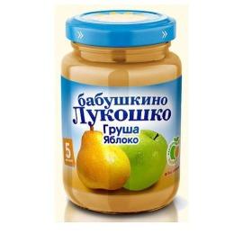 """Бабушкино Лукошко пюре """"Груша и яблоко"""" с 5 месяцев, 200 г"""