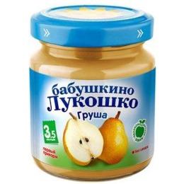 """Бабушкино Лукошко пюре """"Груша и яблоко"""" с 3.5 месяцев, 100 г"""